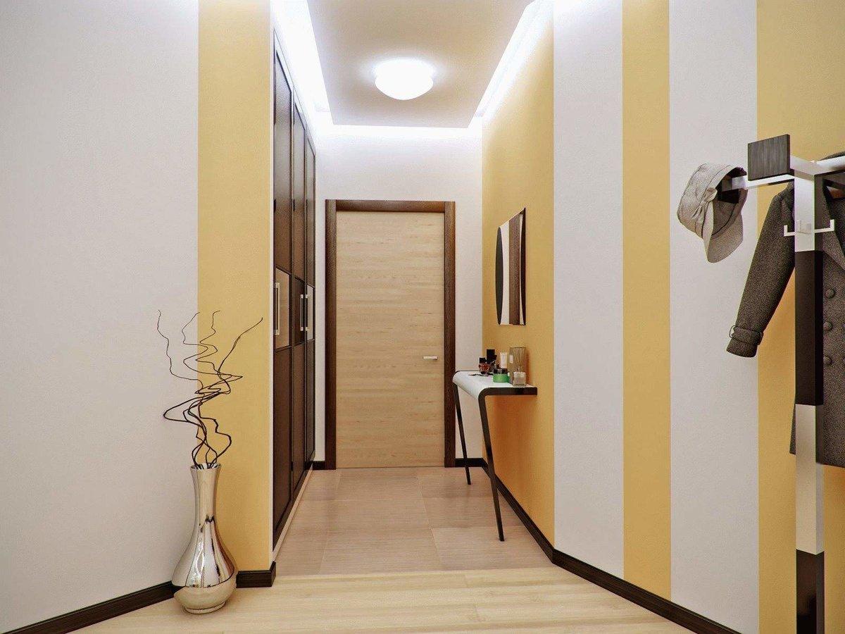 Дизайн стен в коридоре фото