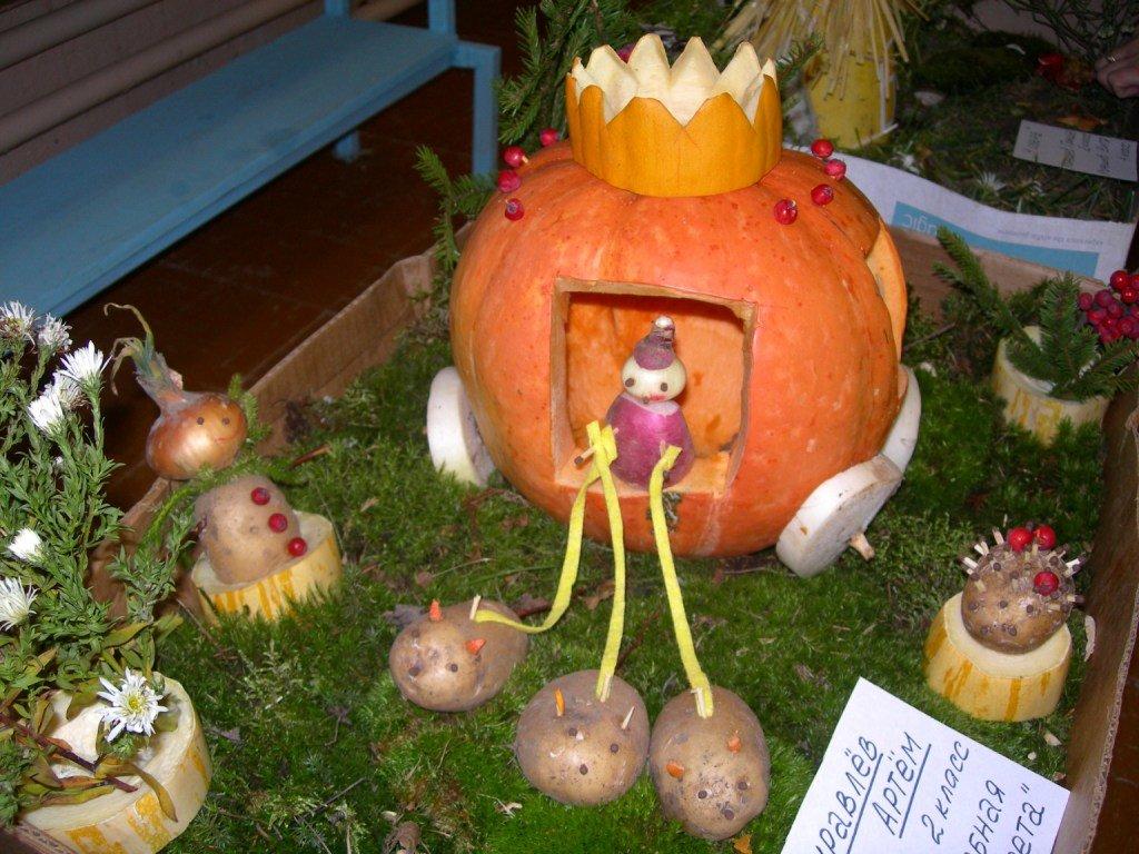 Поделки из овощей и фруктов на выставку на тему осень 37