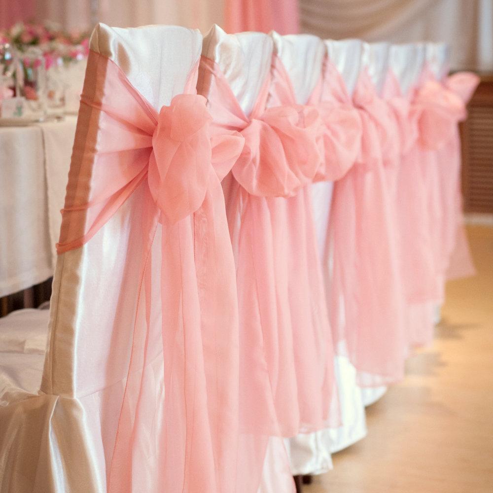 Бантов на стулья свадебные своими руками