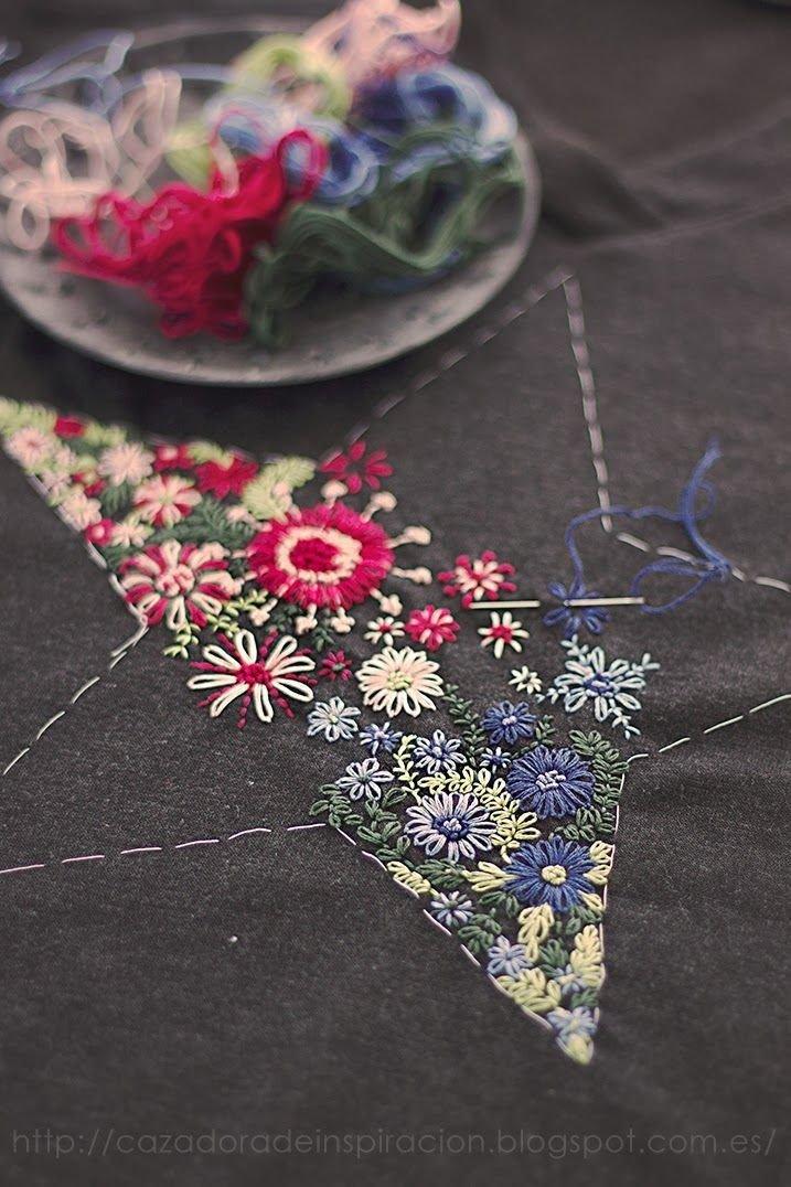 Вышивка по ткани своими руками 56