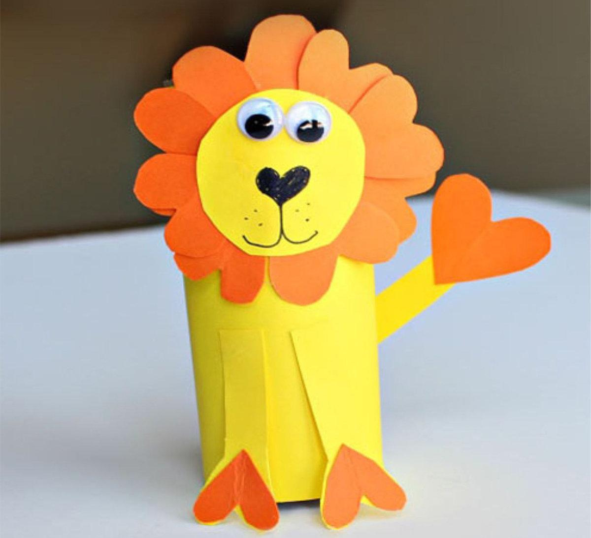 Поделка из бумаги лев своими руками для детей 10 лет 53