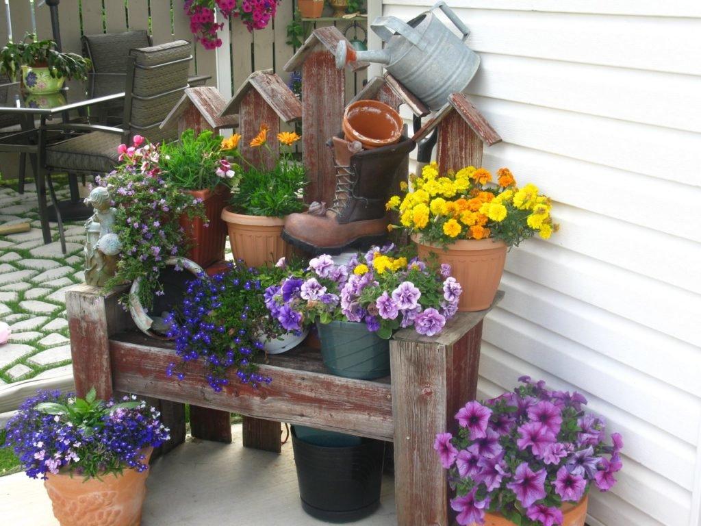 Вазоны для цветов для дачи своими руками 60