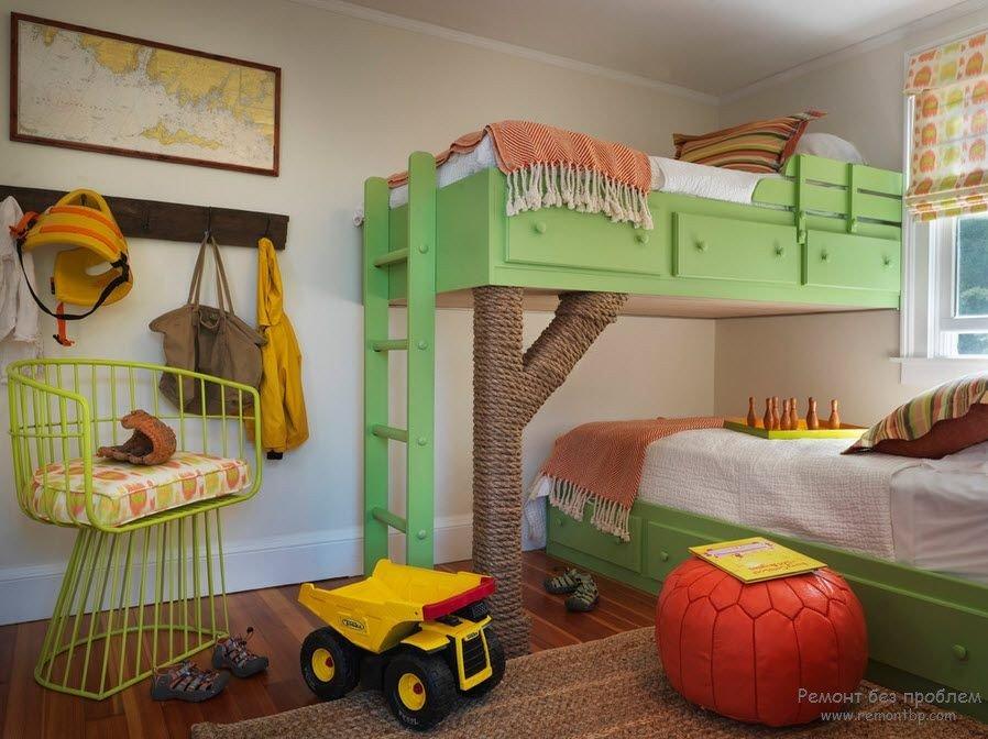 Дизайн детской для двух мальчиков разного возраста 30