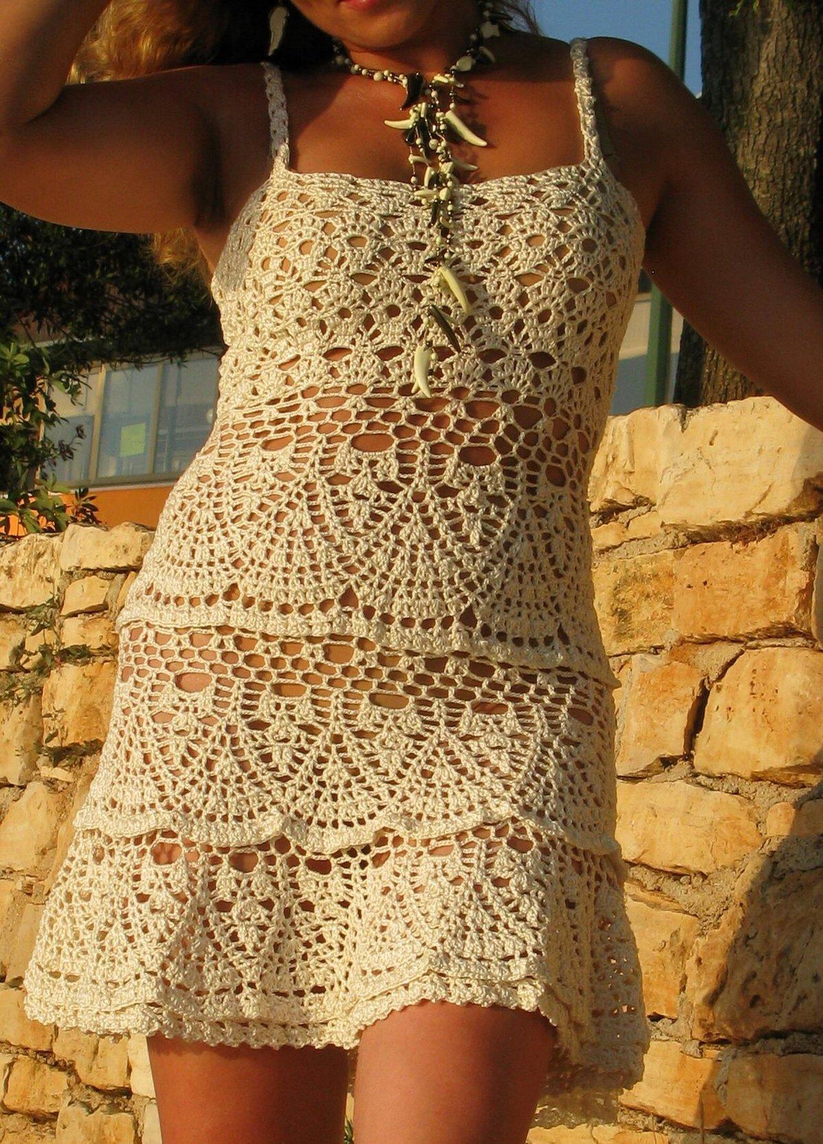 Страна мам вязание крючком летнее платье