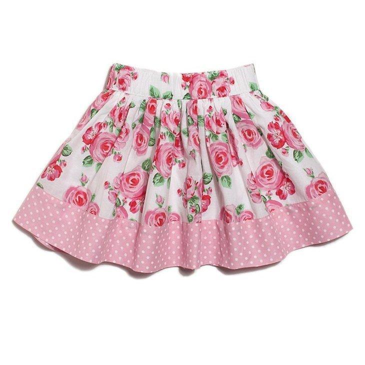 Как сшить дочке юбку в школу 90