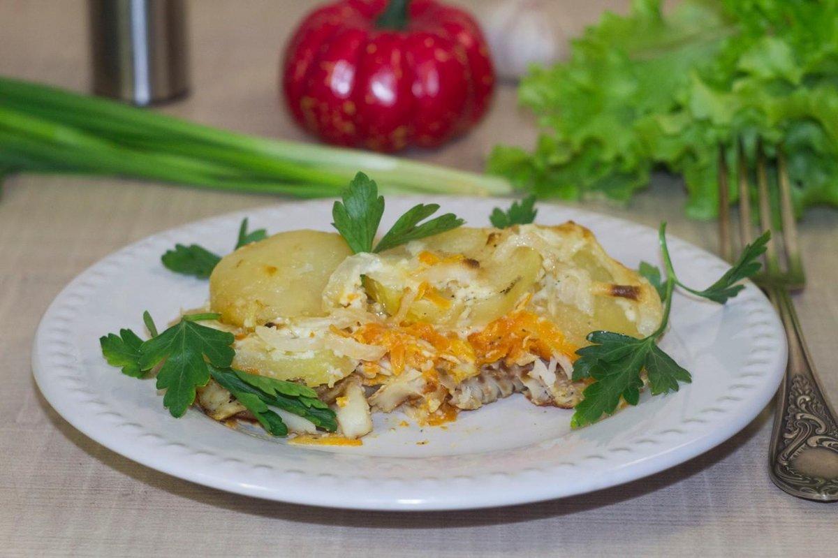 Рыба в духовке с морковью и луком с майонезом рецепт пошагово в