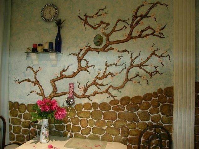 Декор старой стены своими руками фото 89