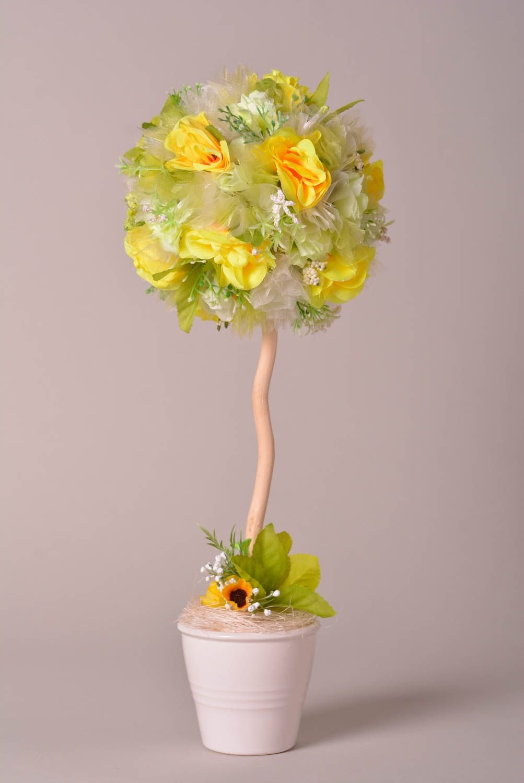 Как делать дерево из цветов фото