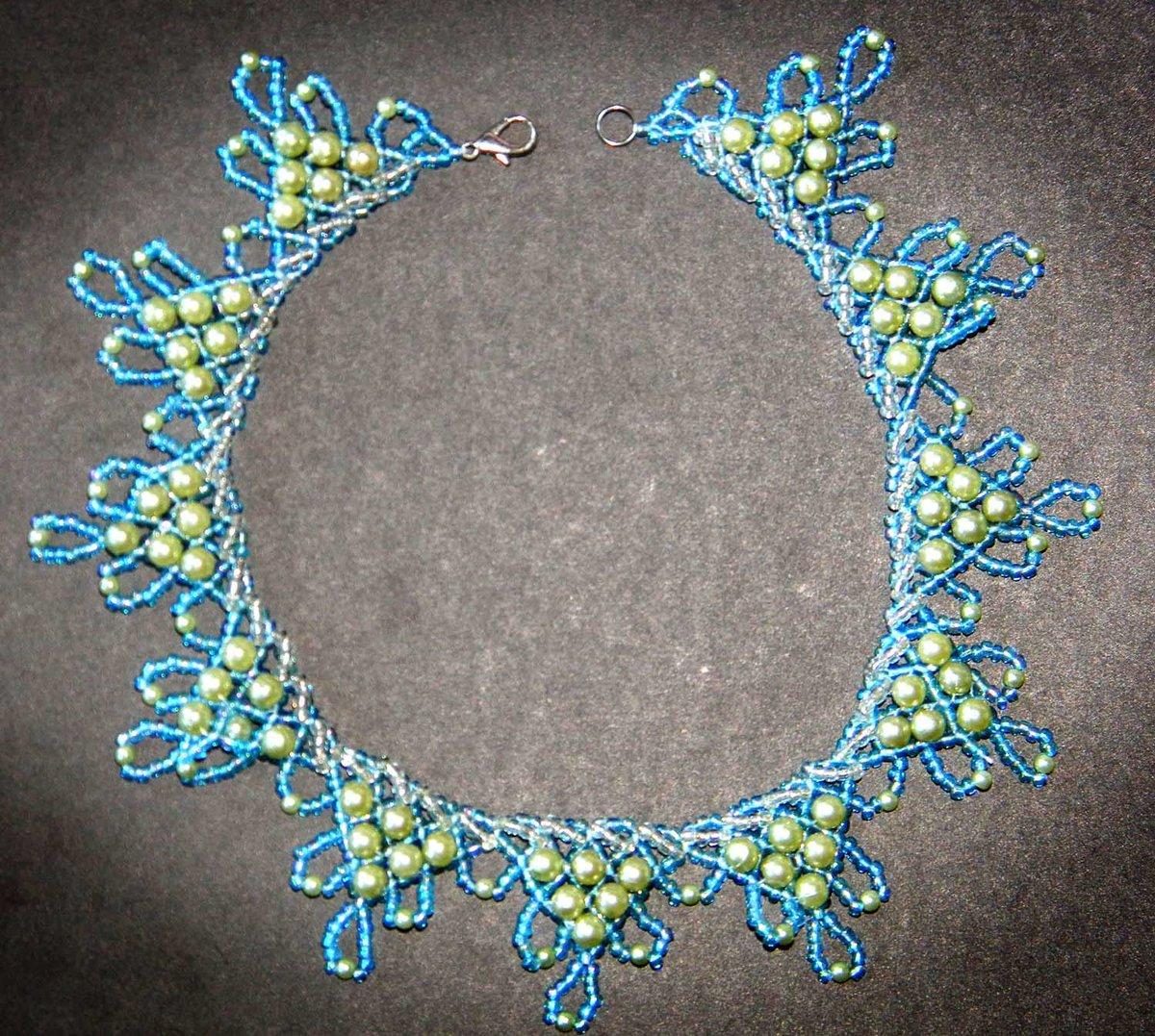 Ожерелье из бисера мк с пошаговым фото