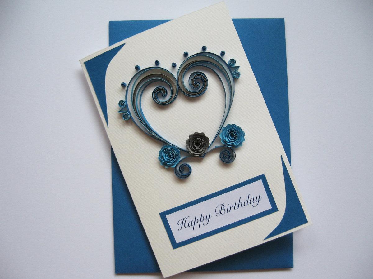 Как сделать открытку на день рождения мужу своими руками 5