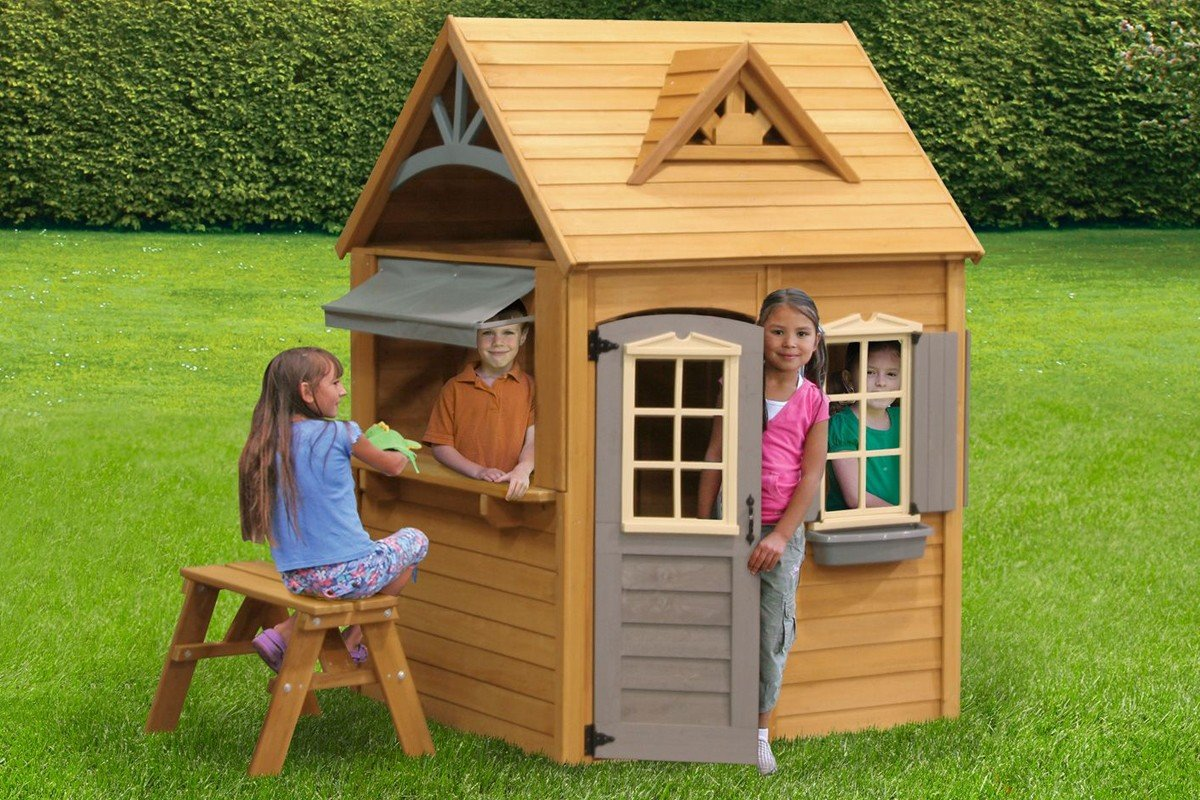 Детский домик из дерева своими руками: строительство избушек 50