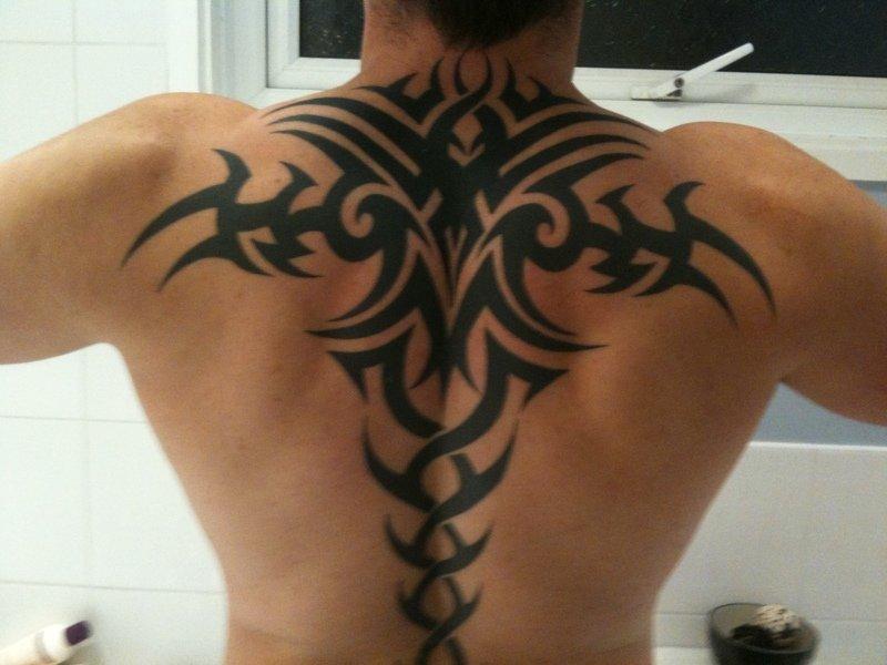Кельтские узоры тату на спину мужская
