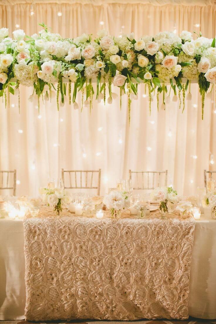 Свадебное украшение стола своими руками
