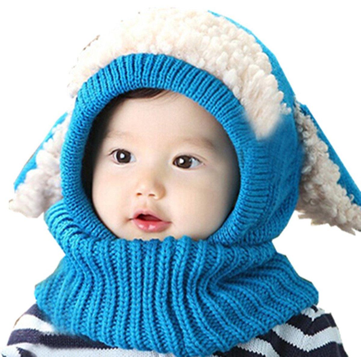 Вязание зимней детской с ушками