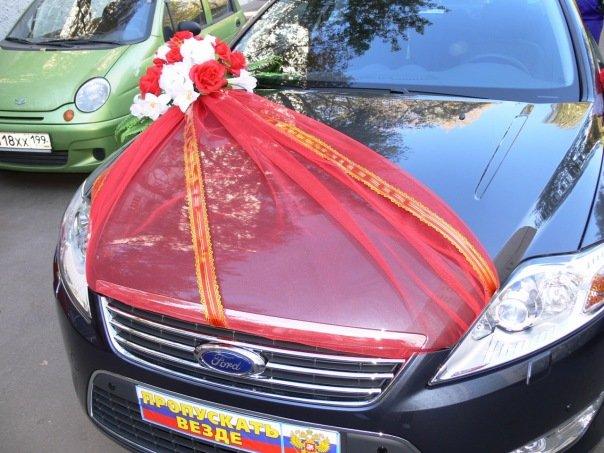 Свадебные украшения на капот машины своими руками