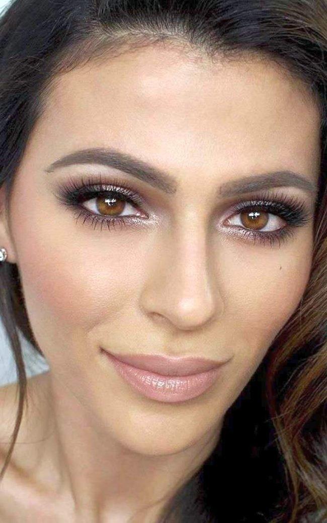 Естественный макияж для темных глаз