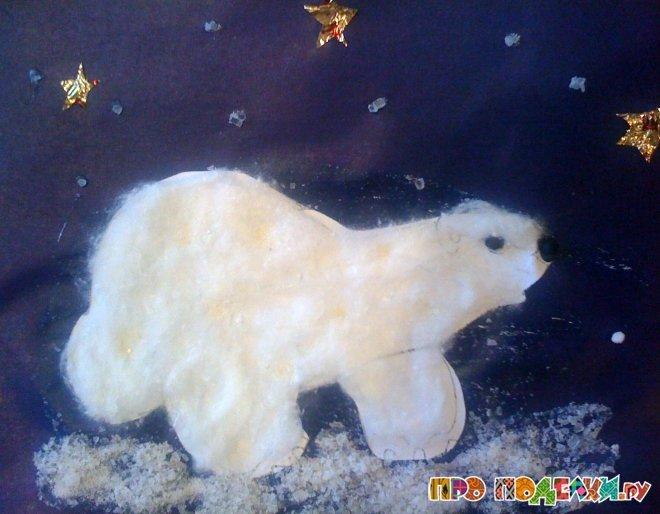 Белый медведь для поделки