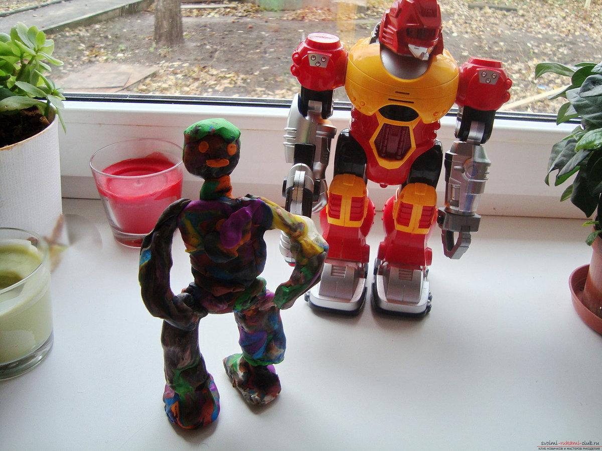 Как из пластилина сделать робота
