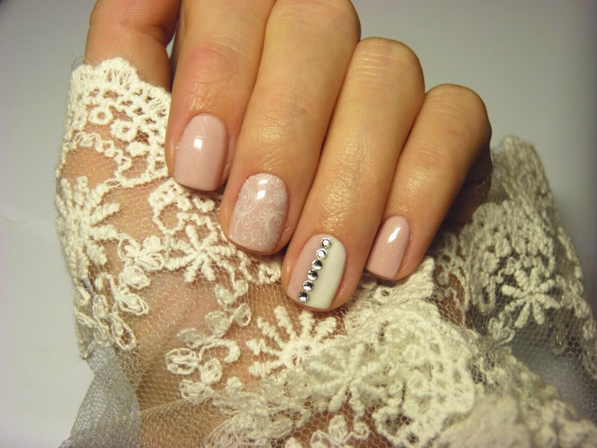 Свадебный Маникюр На Короткие Ногти Шеллак Фото