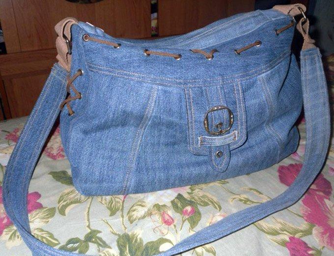 Как сшит сумку из джинс 380