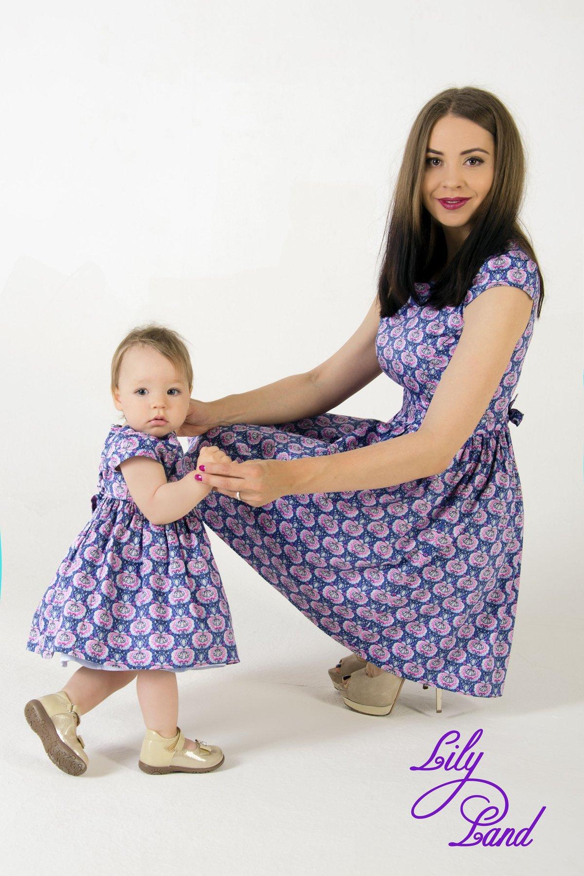 Платье для мамы и дочки в одном стиле сшить 93