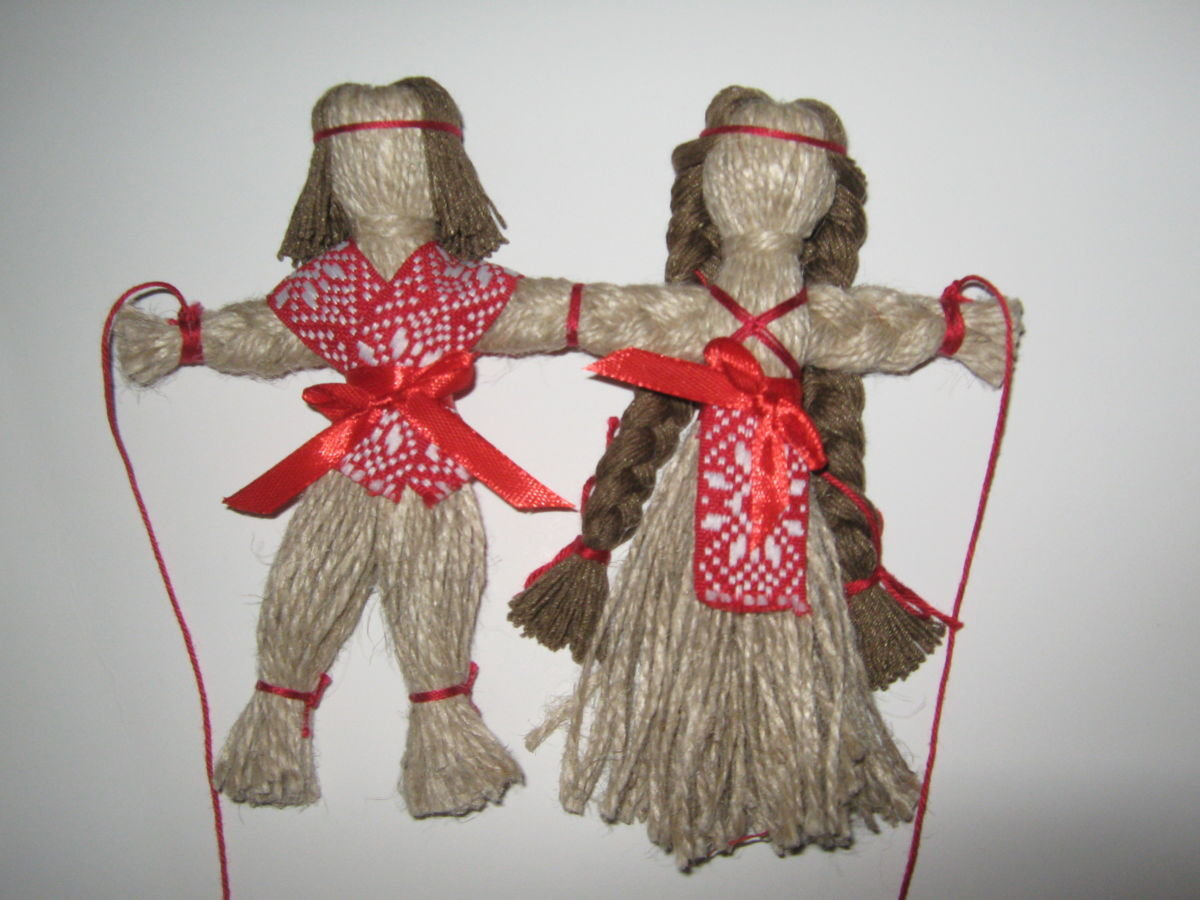 Традиционная тряпичная кукла 64