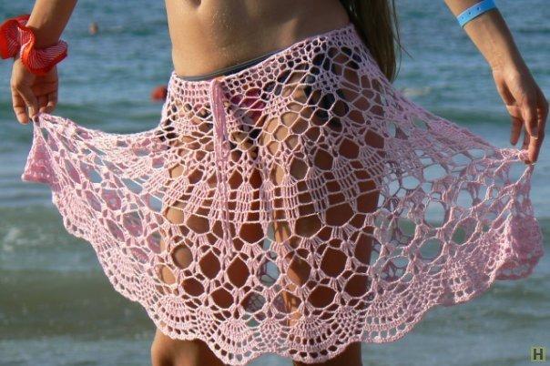 Как и с чего связать пляжную юбку