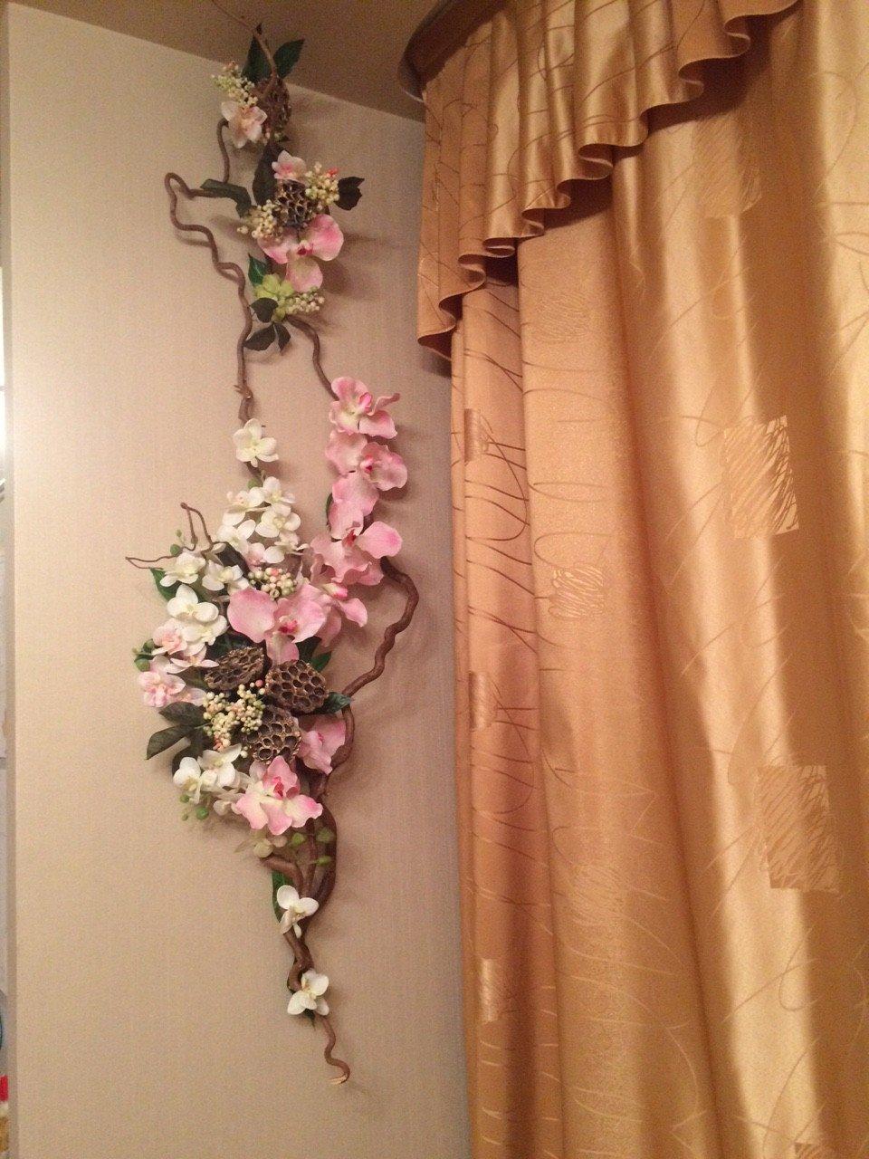 Фото декораций из искусственных цветов