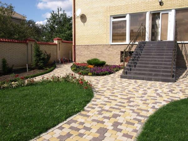 Как сделать двор из тротуарной плитки 314