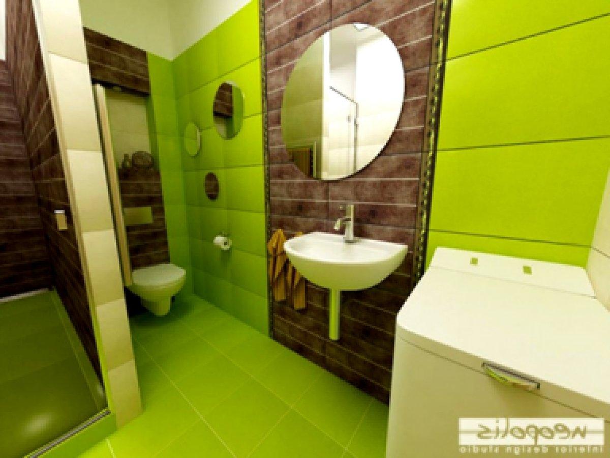 Ванная комната дизайн фото салатовый цвет