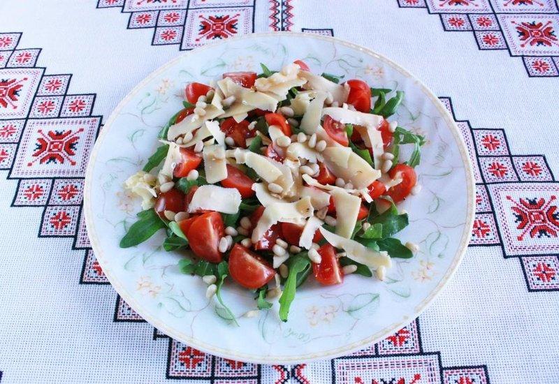 Салаты с рукколой рецепты