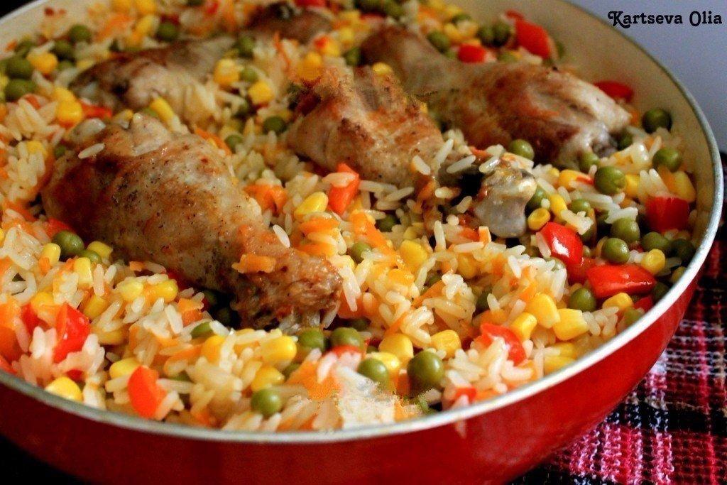 Блюда из риса с курицейы