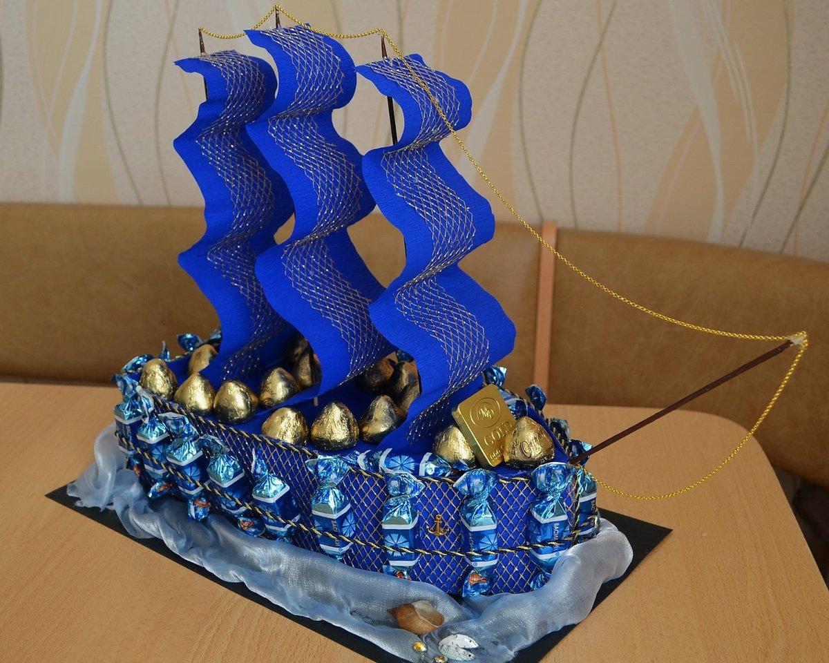 Кораблик подарок своими руками 10