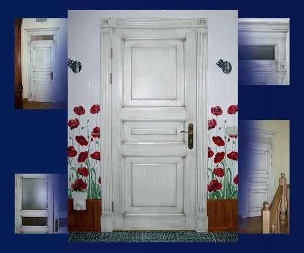 Как облагородить старую входную дверь своими руками 66