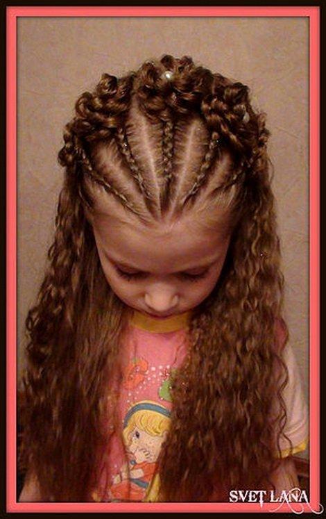 Причёски на девочек на длинные волосы в домашних условиях