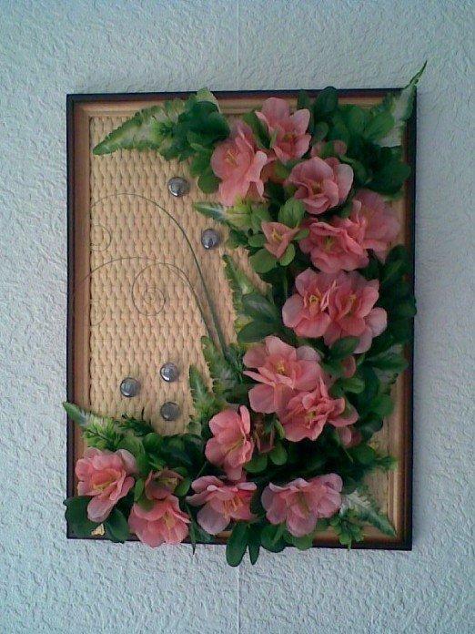 Картины из искусственных цветов своими руками мастер класс 21