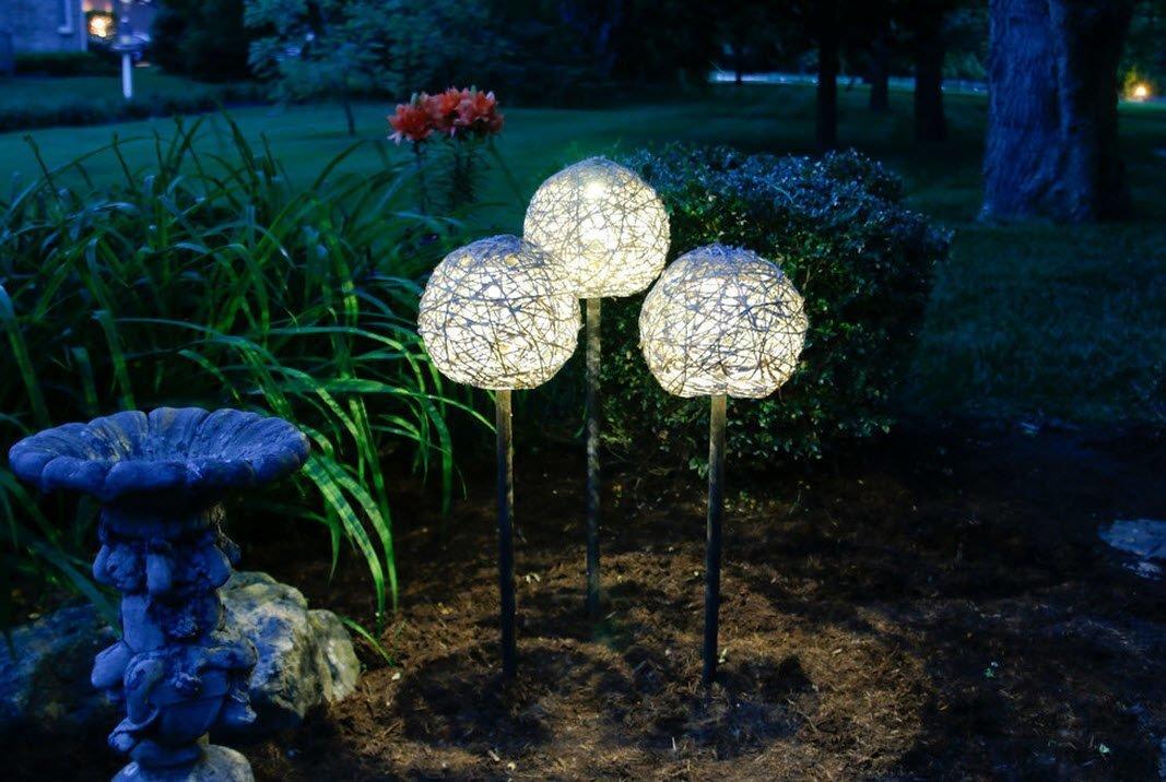Светильники в сад своими руками 5