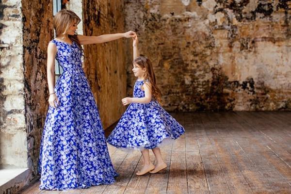 Платье для мамы с дочкой