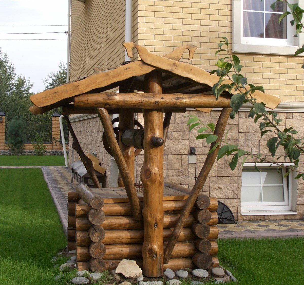 Как сделать деревянный колодец - AtmWood 9