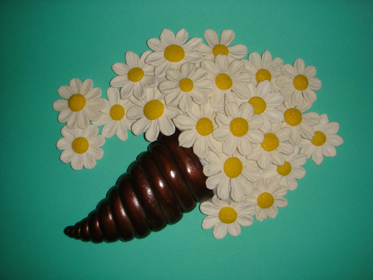 Поделки из солёного теста фото цветы