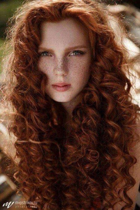 Рыжий натуральный цвет волос фото
