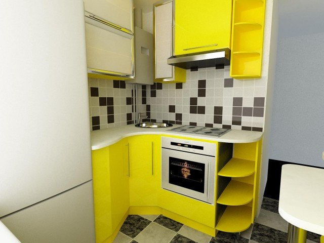 Дизайн кухни в хрущевке 5 кв.м