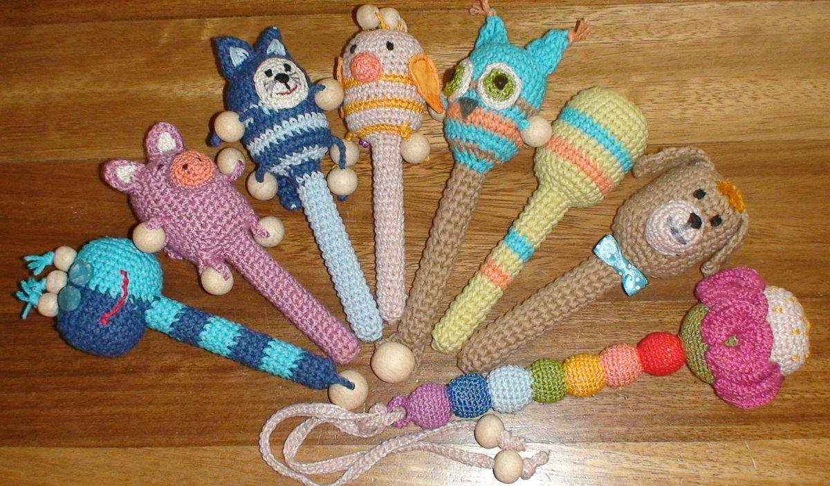 Вязание крючком игрушки детские 76