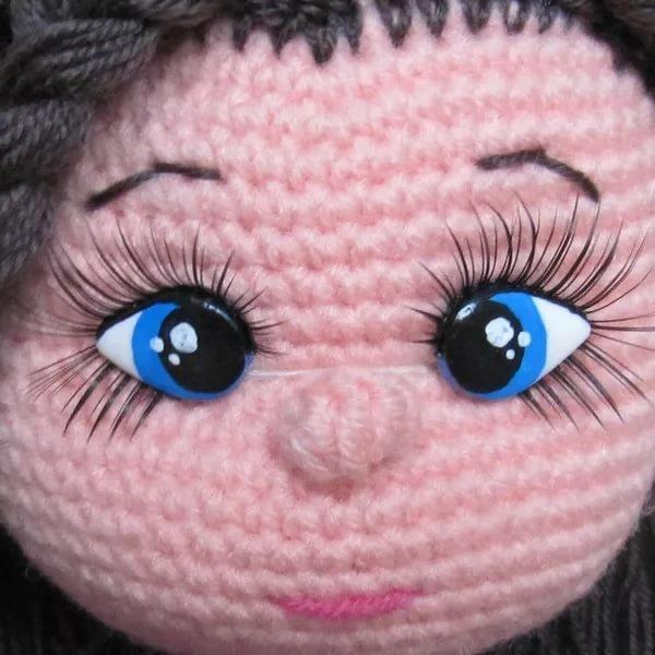 Глазки для вязаных кукол своими руками 33