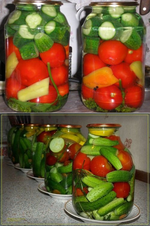 Салат огурцы помидоры без стерилизации