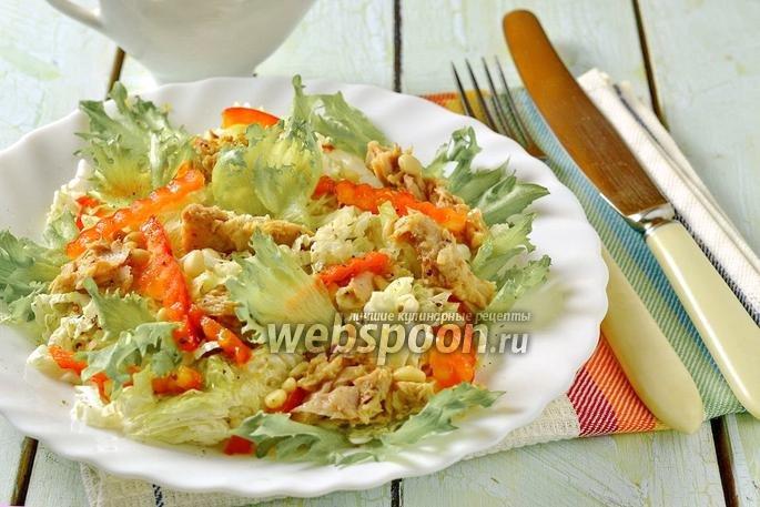 Рецепт салата из тунца с пекинской капустой