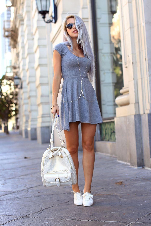 Платье под спортивную обувь