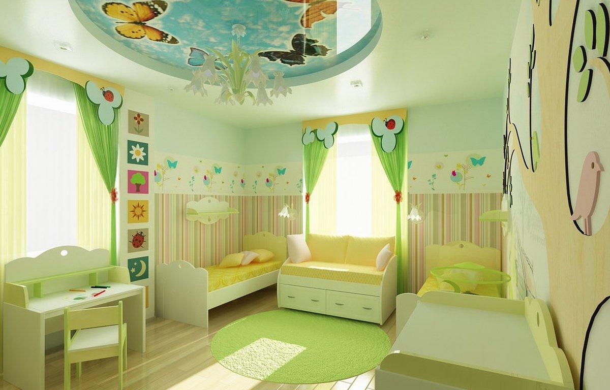 Дизайн не большой детской комнаты