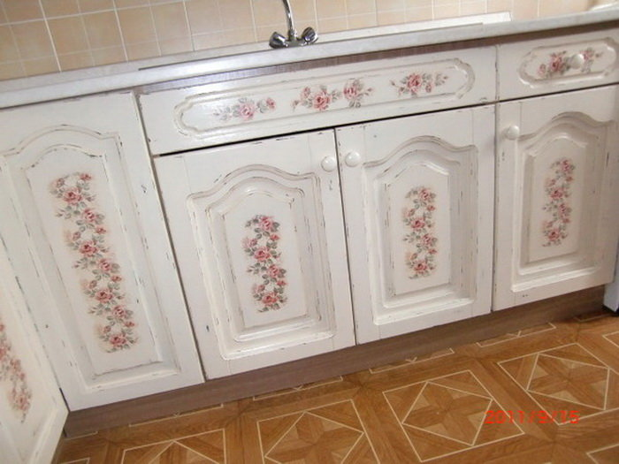 Декупаж кухонный гарнитур своими руками фото 336