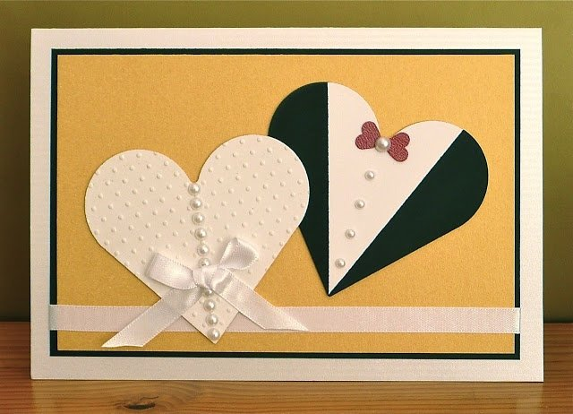 Как сделать открытку на день свадьбы
